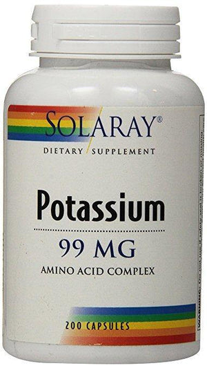 Solaray Potassium Supplement 99 mg, 200 Capsules