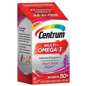 Centrum Multivitamin + Omega 3 for Women - 60 Gelcaps