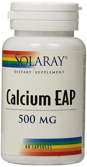 Solaray Calcium EAP 500mg 60 Caps - NutriVita