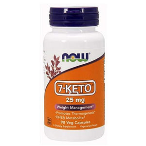 NOW Foods 7-Keto 25mg, 90 Vcaps - NutriVita