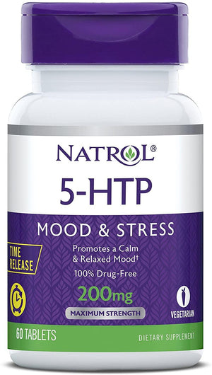Natrol 5 HTP TR Time Release 200mg 60 Tablets