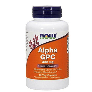 Now Foods Alpha Gpc 300mg 60 Veg-Capsulas - NutriVita