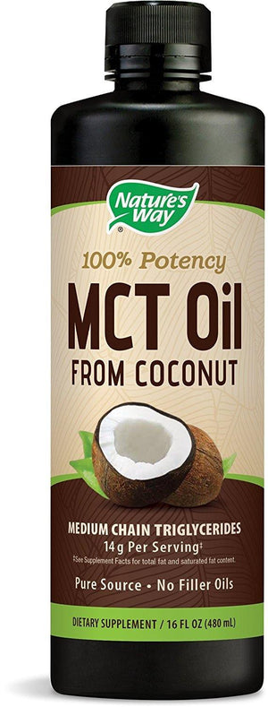 Nature's Way 100% Potency MCT Oil From Coconut 16 Fluid Ounces