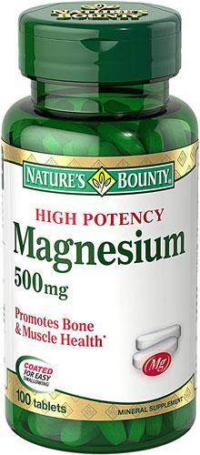 Nature's Bounty High Potency Magnesium 500mg, 100 Tablets