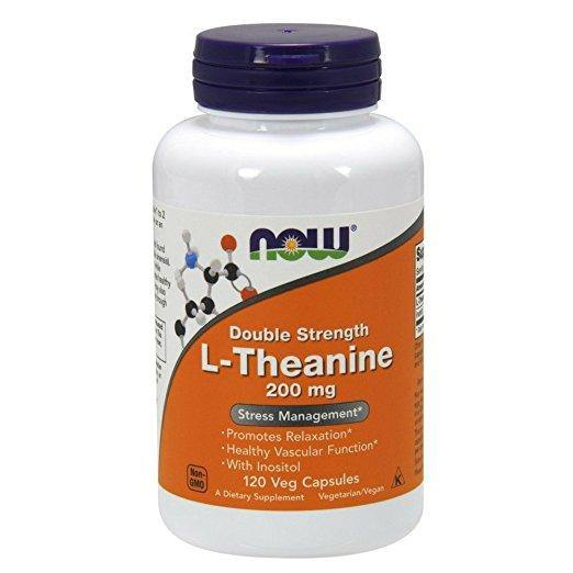 NOW L-Theanine 200 mg,120 Veg Capsulas