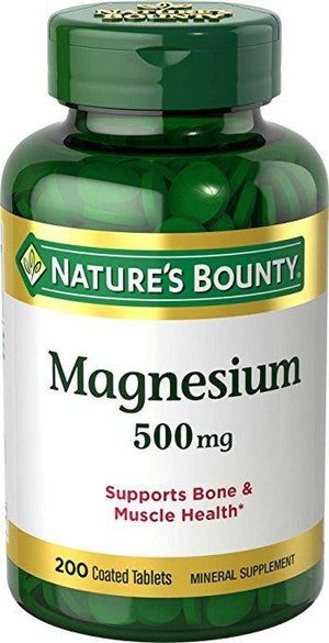 Nature's Bounty High Potency Magnesium 500mg, 200 Tablets