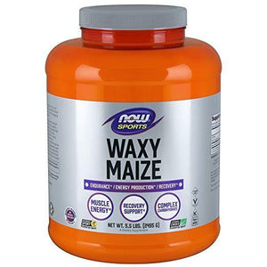 NOW Sports Waxy Maize em Pó, 5.5 lbs (2.4 Kg) - NutriVita