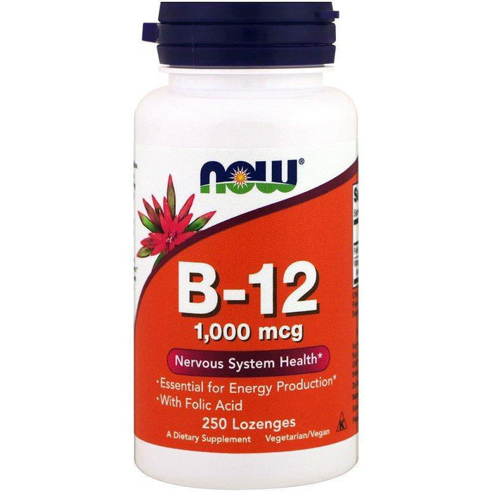 Now Foods Vitamina B-12, 1,000 mcg, 250 Pastilhas