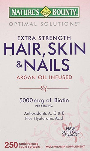Nature's Bounty Hair, Skin & Nails Extra Strength, 250 Softgels