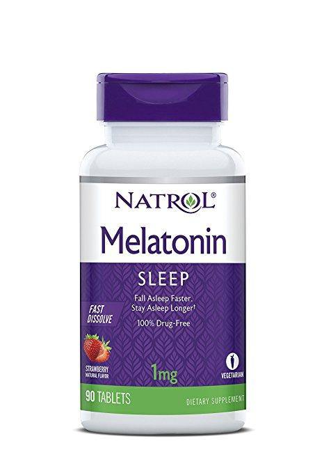 Natrol Melatonina 1mg Fast Dissolve Strawberry, 90 Caps