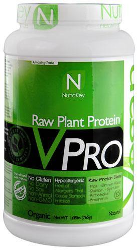 NutraKey VPRO Raw Plant Protein Natural 1.68 lbs - NutriVita