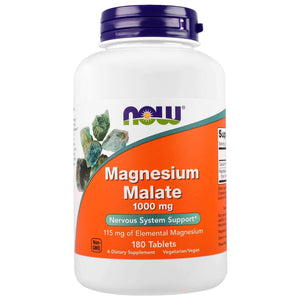Now Foods Magnésio de Malato 1,000 mg 180 Tablets - NutriVita