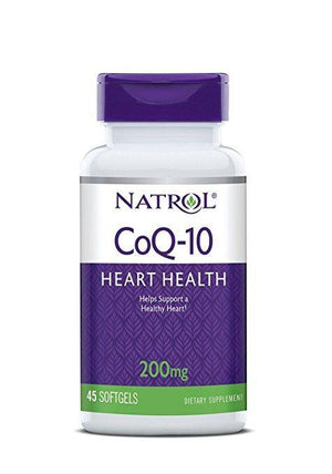 Natrol CoQ-10 200 mg, 45 Softgels - NutriVita
