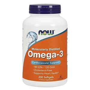 NOW Foods Omega 3 1000mg, 200 Softgels - NutriVita