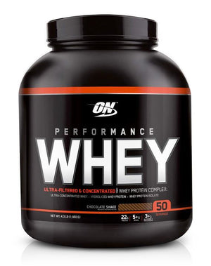 Optimum Nutrition - Performance Whey Protein Complex, 4.3 Lbs.(1,950 g) - NutriVita