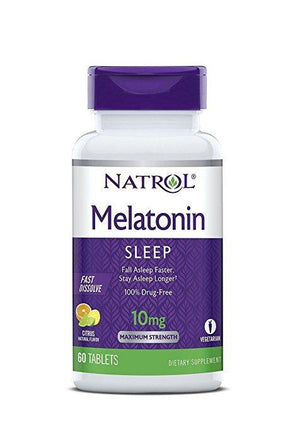 Natrol Melatonin Fast Dissolve Tablets Citrus Punch 10mg 60 Caps
