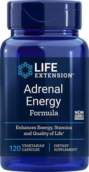Life Extension Adrenal Energy Formula, 120 Veggie Caps
