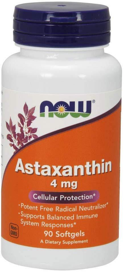 NOW Suplementos, Astaxantina 4 mg 90 Softgels