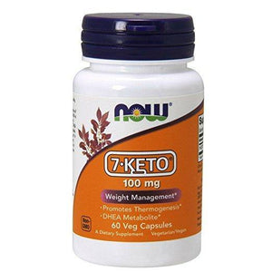 NOW 7-KETO 100 mg,60 Veg Capsules