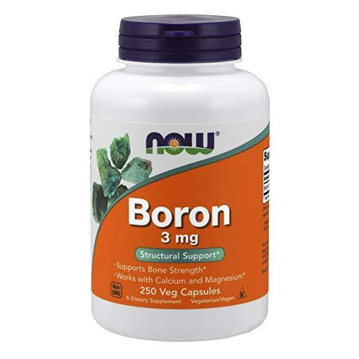 NOW Boron 3 mg, 250 Capsulas