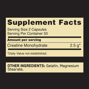 Optimum Nutrition - Creatina 2500 mg. - 100 Capsulas
