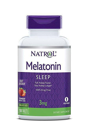 Natrol Melatonin Fast Dissolve 3 mg, 150 Tablets