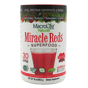 Macro Life Naturals - Miracle Reds Antioxidant Superfood 30 Doses (283.5 gr) - NutriVita