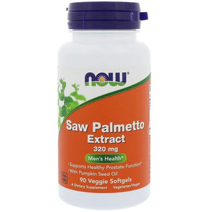 NOW Saw Palmetto 320mg, 90 Veg Softgels - NutriVita