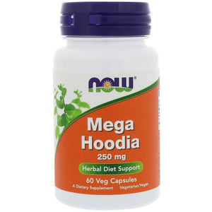 NOW Mega Hoodia 250mg, 60 Veg Capsules