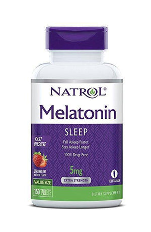 Natrol Melatonin 5mg Fast Dissolve Strawberry flavor 150 Tablets