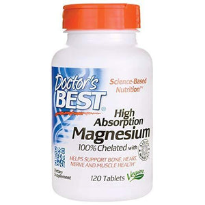 Doctor's Best High Absorption Magnesium 120 Tablets