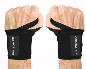 "Rip Toned Wrist Wraps 18"" Professional Grade - Wrist Support Braces for Men & Women"