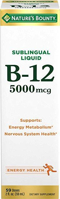 Nature's Bounty Vitamin B-12 5000 mcg Sublingual 59ml