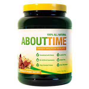SDC Nutrition - About Time 100% Natural Whey Protein Isolate 2 lbs (908g) - NutriVita