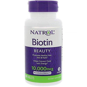 Natrol - Biotin 10,000 mcg Maximum Strength 100 Tablets - NutriVita