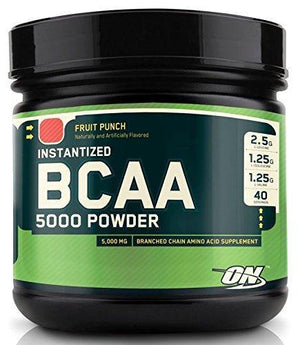 Optimum - BCAA 5000 Powder Fruit Punch 40 Doses - NutriVita