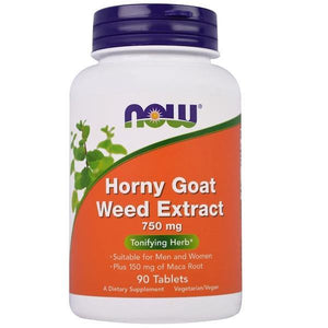 Now Foods Horny Goat Weed 750 mg, 90 Tablets - NutriVita