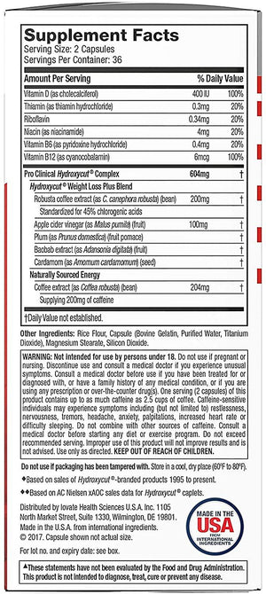 MuscleTech - Hydroxycut  Pro Clinical Hydroxycut, 72 Capsulas