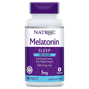 Natrol Melatonina 5mg Time Release 250 Tablets - NutriVita