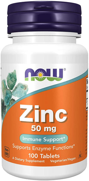 NOW Zinco 50mg,100 Tablets