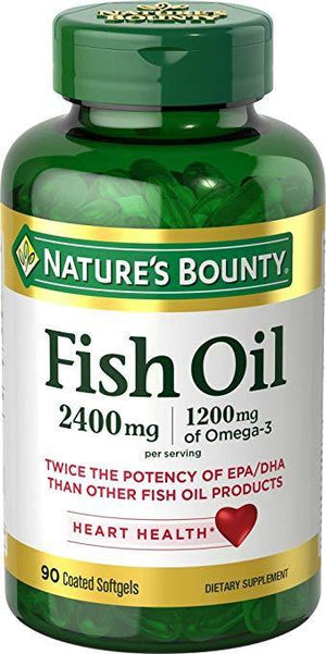 Nature's Bounty Óleo de Peixe 2400 mg Omega-3, 90 Softgels - NutriVita