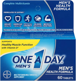 One A Day - Men's Health Formula 60 Caps (Multivitamina para Homens) - NutriVita