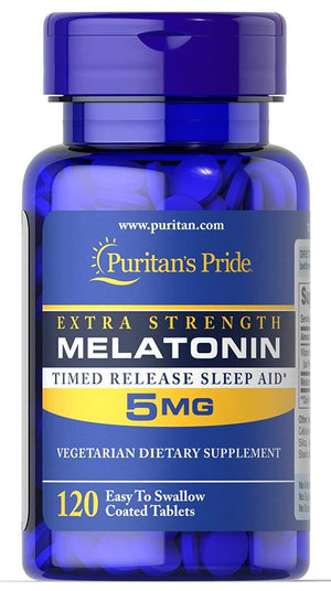 Puritans Pride Melatonina 5mg 120 Caps - NutriVita