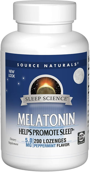 Source Naturals Melatonina Sublingual 5mg Orange 200 Tablets
