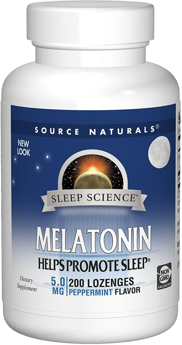 Source Naturals Melatonina Sublingual 5mg Sabor Menta 200 Tablets