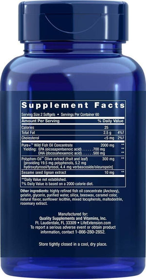 Life Extension Super Omega-3 Plus EPA/DHA 120 softgels