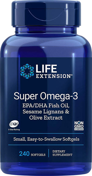 Life Extension Super Omega-3 EPA/DHA 240 softgels - NutriVita