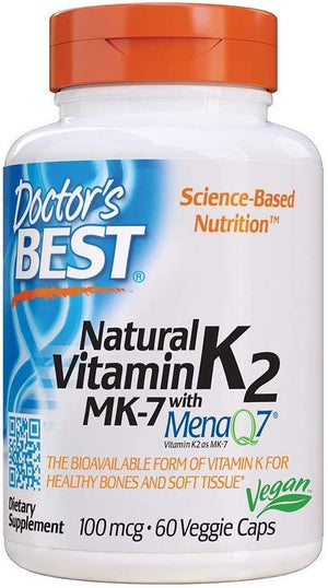 Doctor's Best Natural Vitamina K2 com Mk-7, 60 Caps Veg - NutriVita