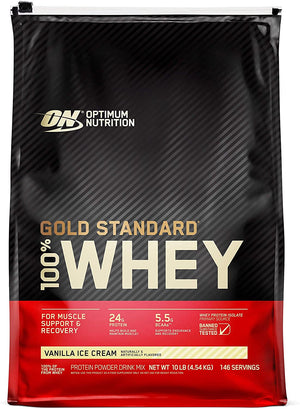 Optimum Nutrition - 100% Whey Gold Standard Proteina - 10 lbs.