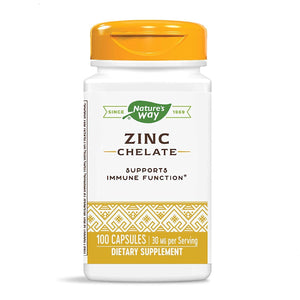Nature's Way, Zinco Quelato, 30 mg, 100 Capsulas - NutriVita
